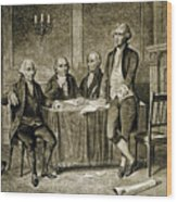 Leaders Of The First Continental Congress Wood Print