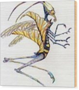 Leaf Hopper Wood Print