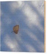 Leaf In Shadows Wood Print