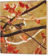 Leaf Me Alone Wood Print
