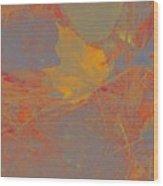 Leaf On Ground Wood Print