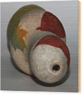 Leaf Vase Wood Print