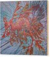 Leafy Sea Dragon Wood Print by Lawry Love