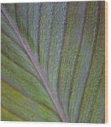 Leafy Texture Wood Print