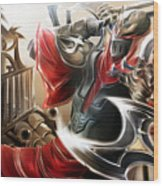 League Of Legends Wood Print