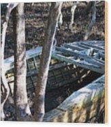 Leaky Boat Wood Print