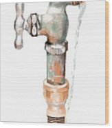Leaky Faucet Wood Print