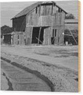 Leaning Barn San Joaquin County Ca Wood Print