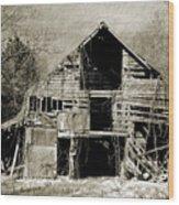Leaning Barn Wood Print