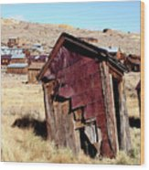 Leaning Bodie Outhouse Wood Print
