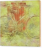 Leaning In Bicycle Wood Print