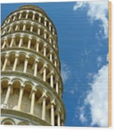 Leaning Tower Wood Print