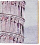 Leaning Tower Of Pisa - 03 Wood Print
