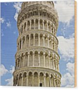 Leaning Tower Of Pisa Wood Print