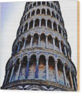 Leaning Tower Of Pisa In Tuscany, Italy Wood Print