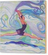 Leap Of Joy Wood Print
