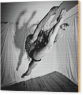 Leaping In Studio Wood Print