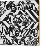 Learn To A Maze Book Cover 1 Wood Print
