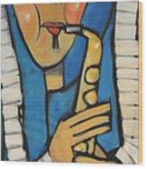 Learn To Work The Saxophone Wood Print