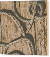 Learning The Ropes Wood Print