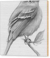 Least Flycatcher Wood Print