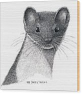 Least Weasel Wood Print