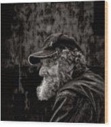 Leather Jacket Wood Print