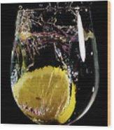 L'eau De Lemon Wood Print