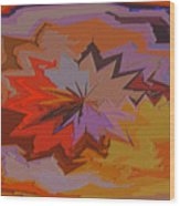 Leaves Abstract - Autumn Motif Wood Print
