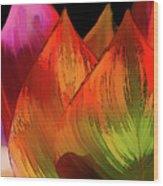 Leaves Aflame Wood Print
