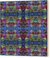 Leaves Batik Tiled Wood Print