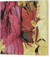 Leaves Fall Wood Print