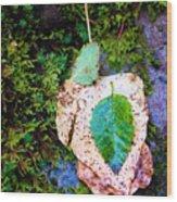 Leaves In A Pile Wood Print