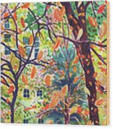 Leaves In Nyc Wood Print