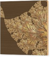 Leaves Of Gold Wood Print