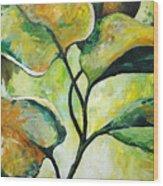 Leaves2 Wood Print by Chris Steinken