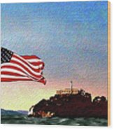 Leaving Alcatraz Wood Print