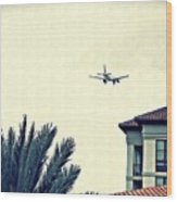 Leaving On A Jet Plane 1      Wood Print