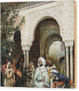 Leaving The Alhambra Wood Print