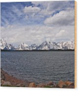 Leaving The Grand Tetons Wood Print