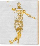 Lebron James Cleveland Cavaliers Pixel Art 12 Wood Print