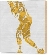 Lebron James Cleveland Cavaliers Pixel Art 13 Wood Print