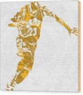 Lebron James Cleveland Cavaliers Pixel Art 14 Wood Print