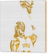 Lebron James Cleveland Cavaliers Pixel Art 71 Wood Print