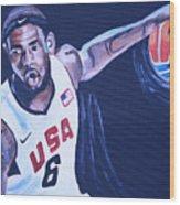 Lebron James Portrait Wood Print by Mikayla Ziegler