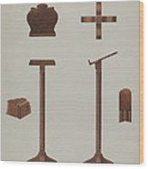 Lectern (reading Stand) Wood Print