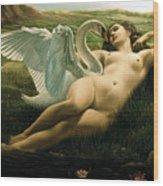 Leda And The Swan - Sensual Wood Print