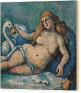 Leda And The Swan Wood Print by Paul Cezanne