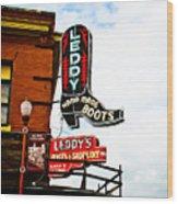 Leddy's Boots Wood Print by David Waldo