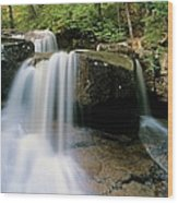 Ledge Brook - White Mountains New Hampshire Usa Wood Print